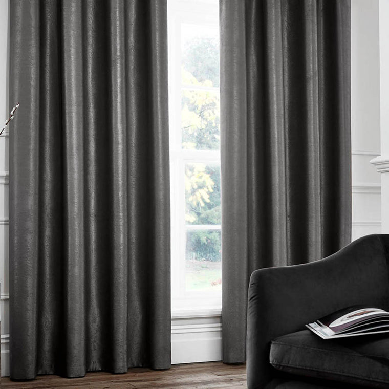 Chelsea Pencil Pleat Curtains - Charcoal