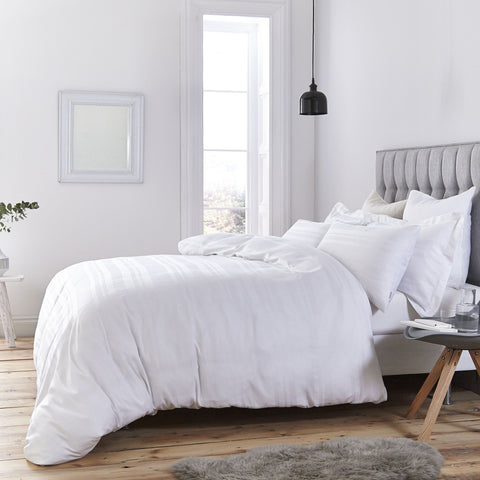 Cotton Casa Indulgence Pure White Waffle duvet cover