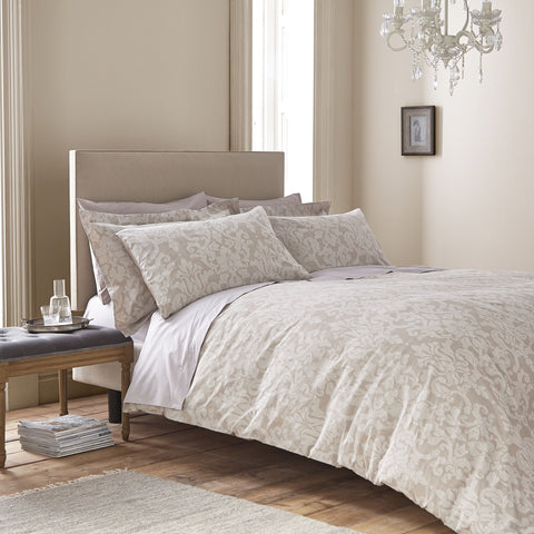 Cotton Casa Natural Bliss Jacquard Duvet Cover