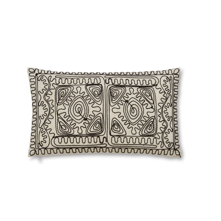 Corded Embroidered Cushion