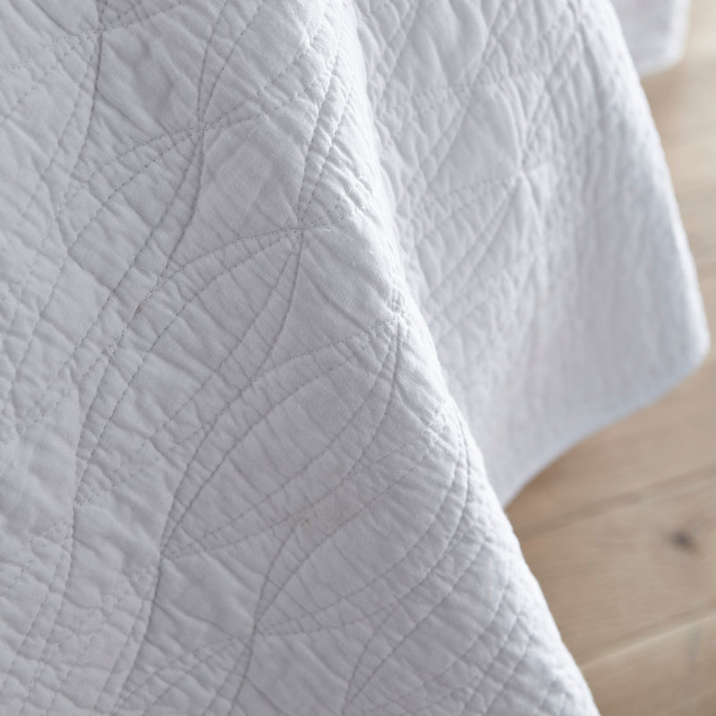 Cotton Casa White Bedspread or Pillowsham