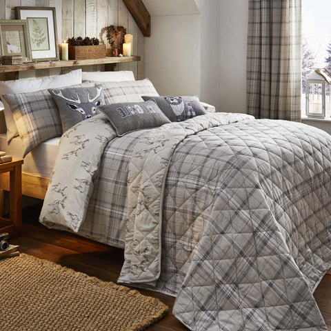 Country Check Natural Brushed Cotton Duvet Cover