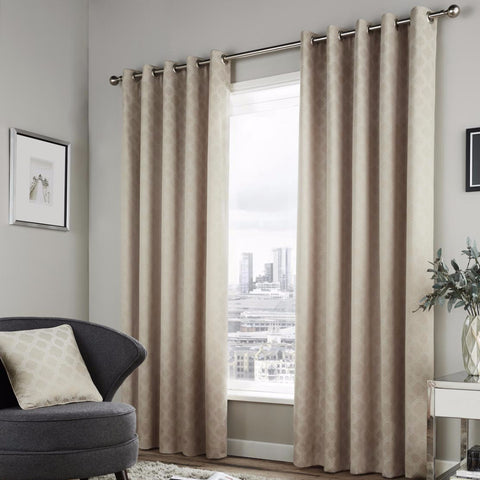 Bleasdale Natural Eyelet Lined Curtains