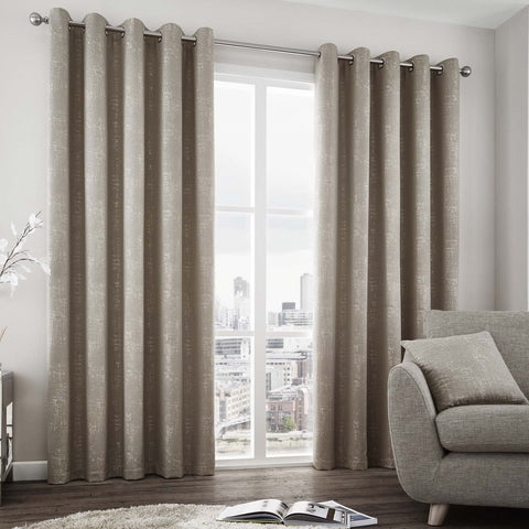 Dubai Chic Glitz Stone Lined Eyelet Curtains