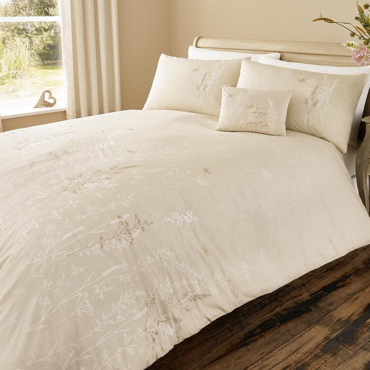Easy Meadow Natural Duvet Cover