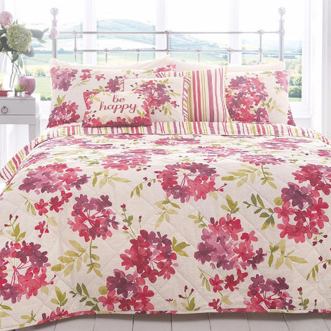 Summer Bloom Flowers 100% Cotton King Size Duvet Cover & Pillowcase Set