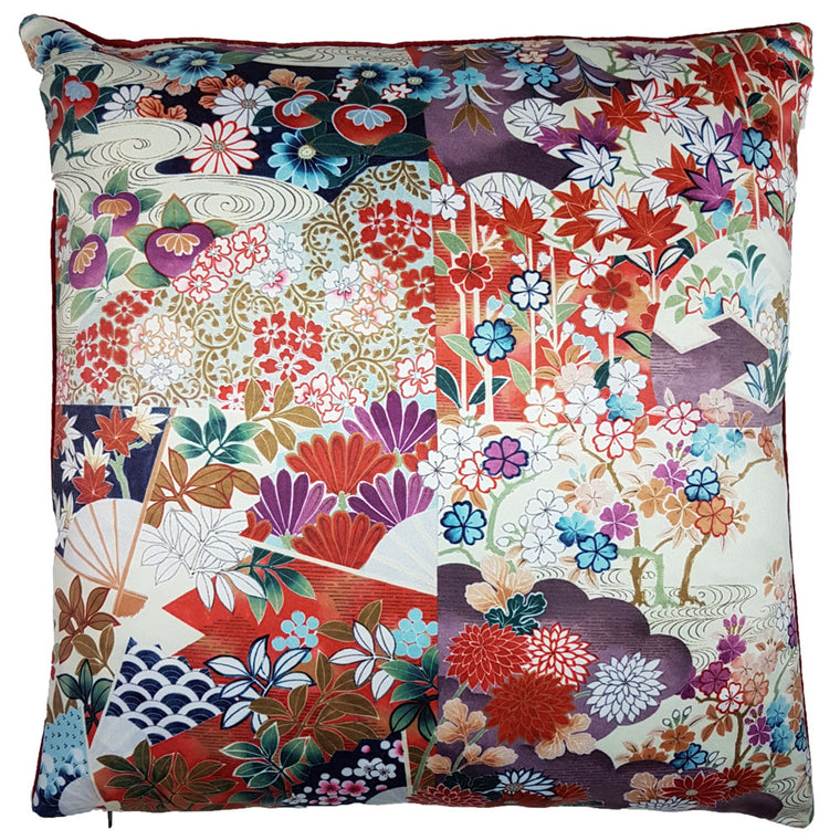 One Of A Kind Floral Abstract 43x43cm Cushion