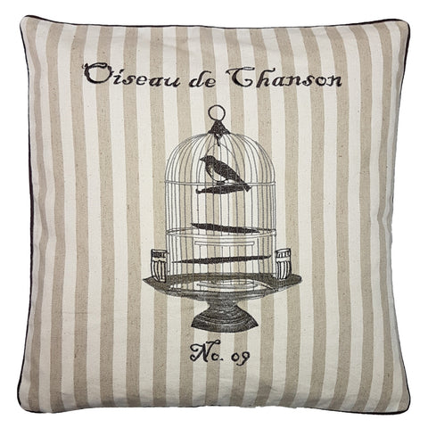 One Of A Kind French Bird Cage 45x45cm Cushion
