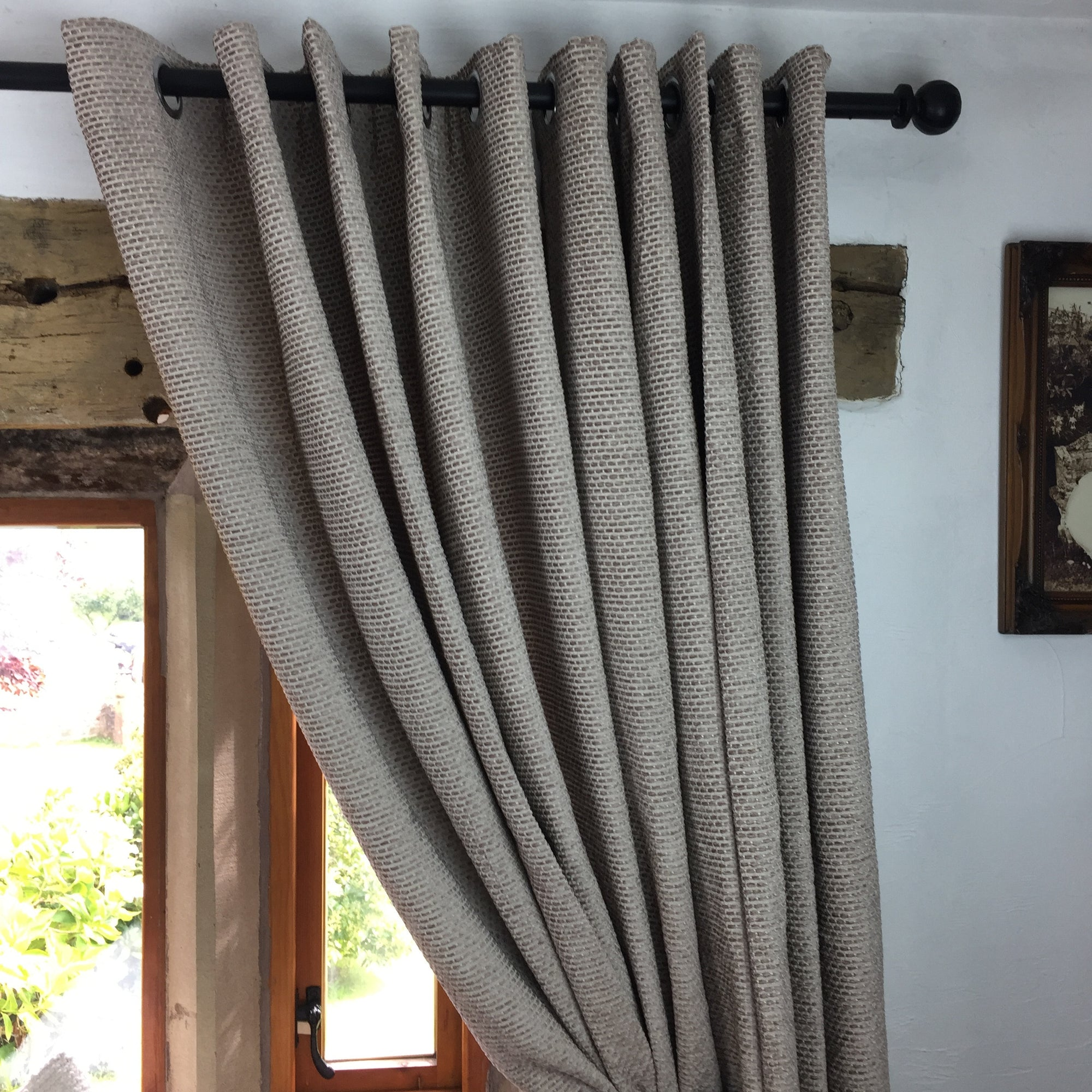 steel grey made product feather textured eyelet in elba top by ring stone plain ready studio curtains g lined and