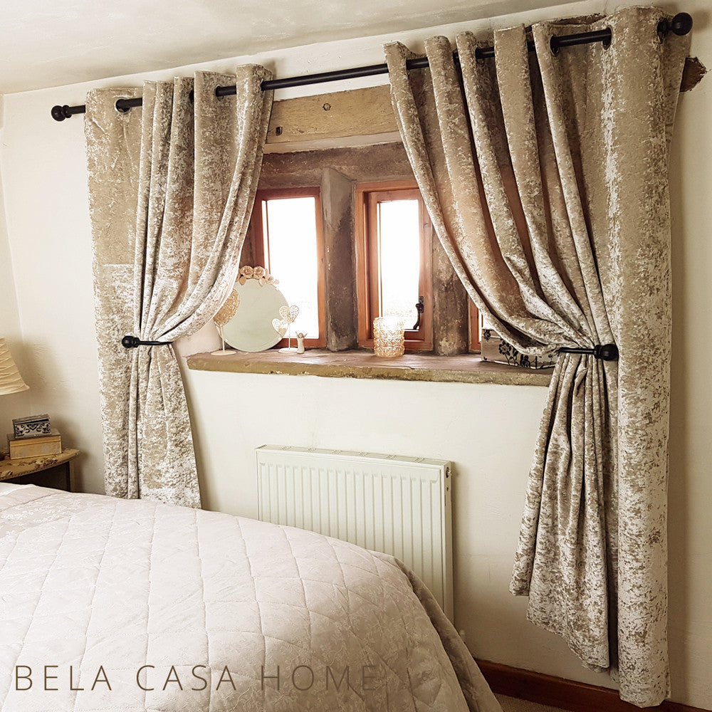Greatest Crushed Velvet Curtains - Silk Gold – Bela Casa Home II63