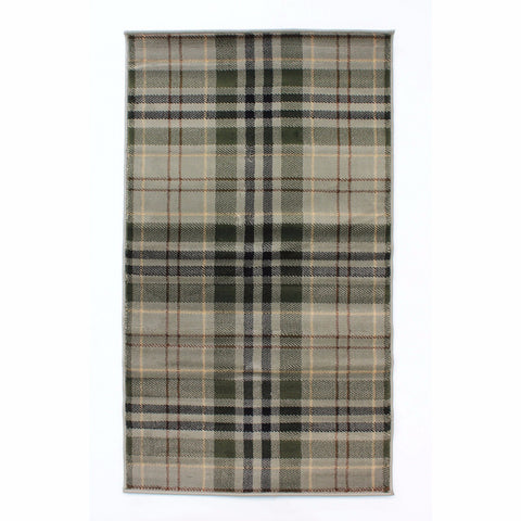 Grampian Sage Checked Rugs & Runner