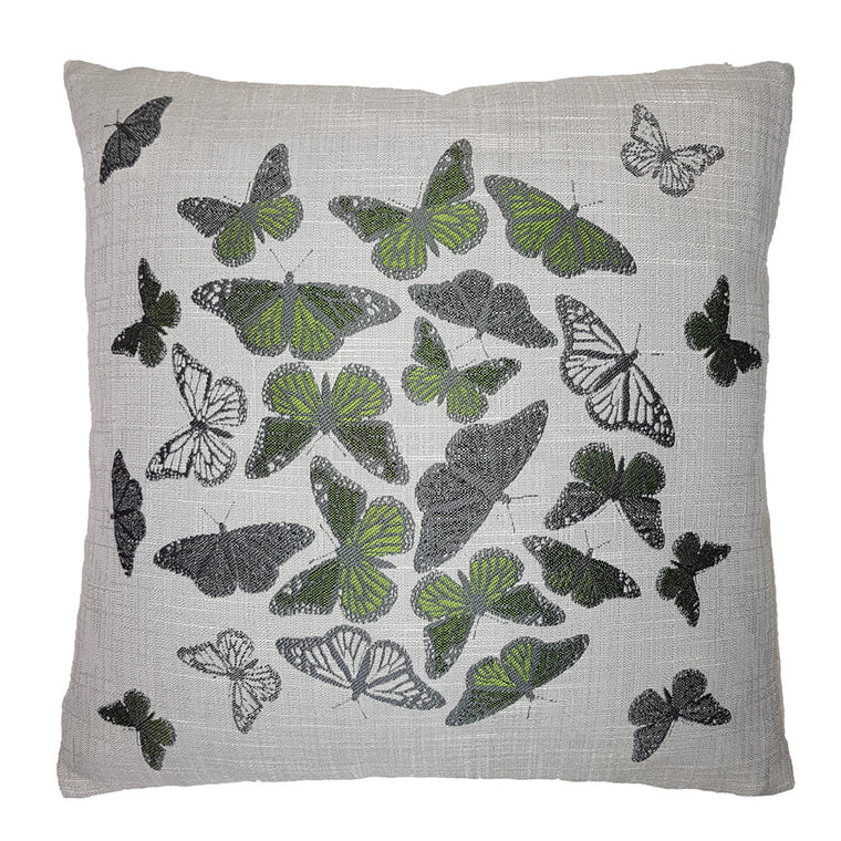 One Of A Kind Emerald Butterfly 43x43cm Cushion