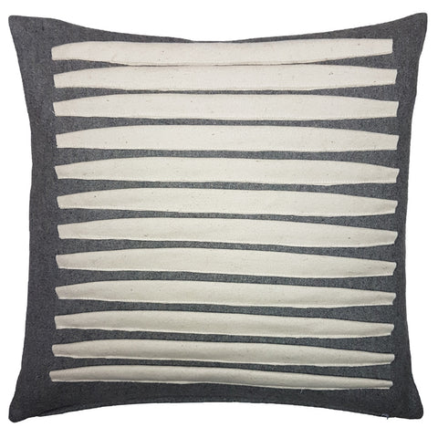 One Of A Kind Grey Origami Stripe 43x43cm Cushion
