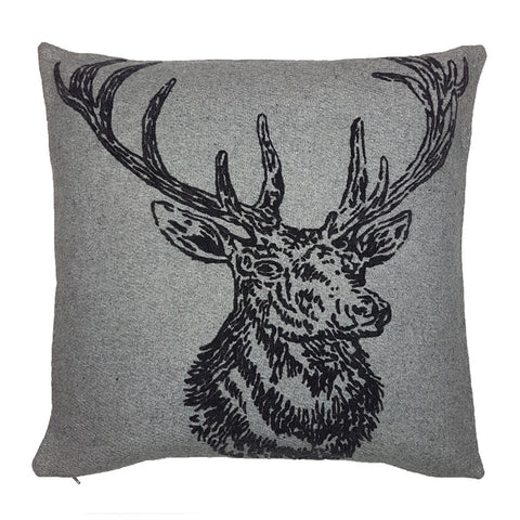 One Of A Kind Stag Grey 45x45cm Cushion