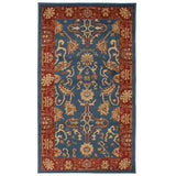 Imperial Blue and Rust Zubar Rug