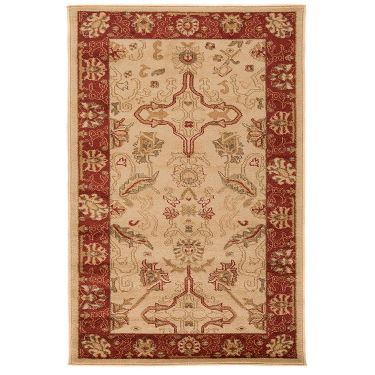 Imperial Cream and Rust Zubar Rug
