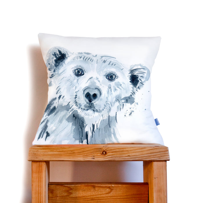 Inky Polar Bear Cushion
