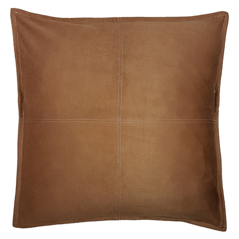 One Of A Kind Light Brown Faux Suede 48x48cm Cushion