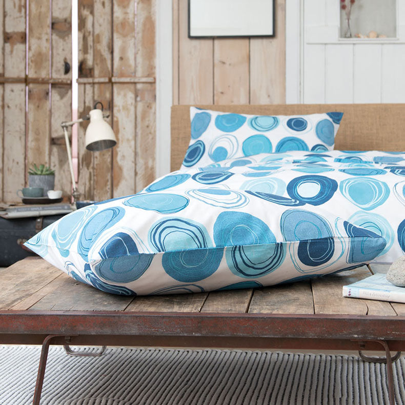 Retro Blue Duvet Cover Set