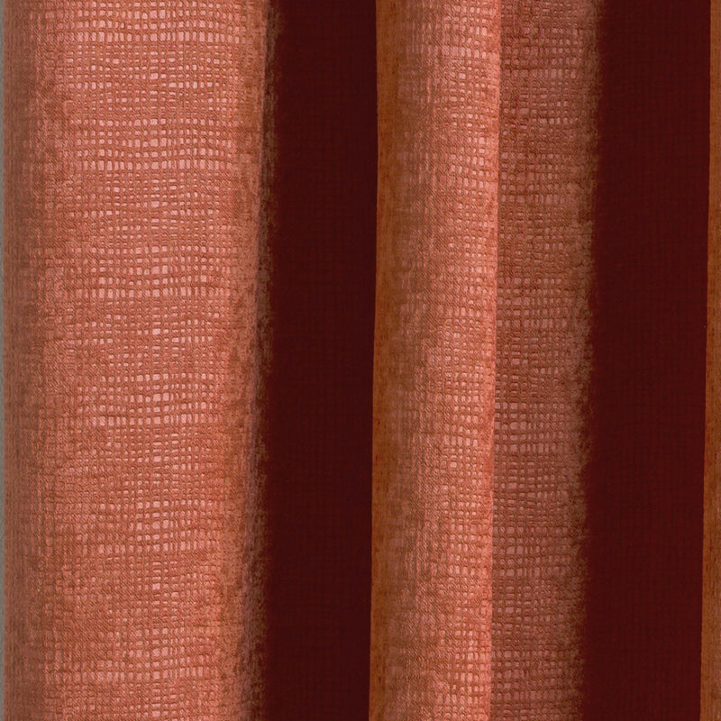 Matrix Orange Pencil Pleat Woven Textured Ready-Made Curtains