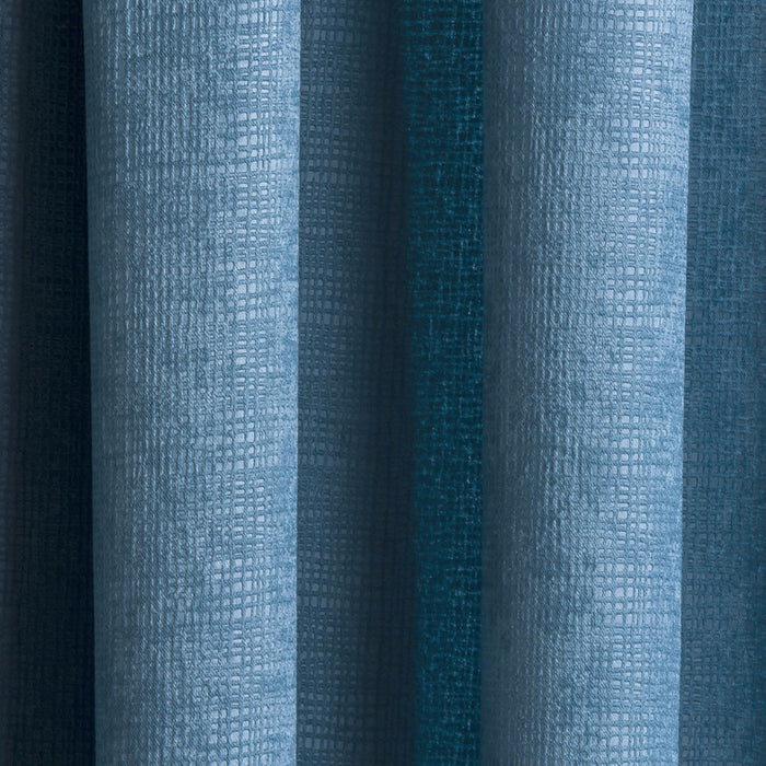 Matrix Teal Pencil Pleat Textured Ready-Made Curtains
