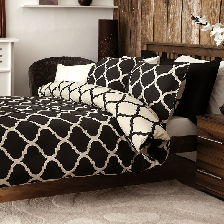 Morocco Black Duvet Cover Set