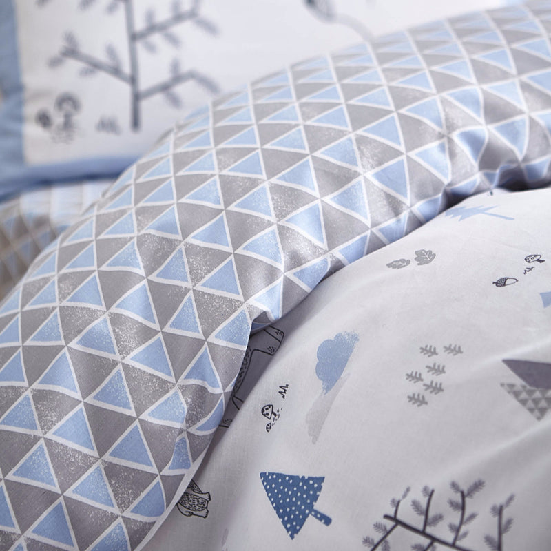 Nordic Blue Cotton Duvet Cover