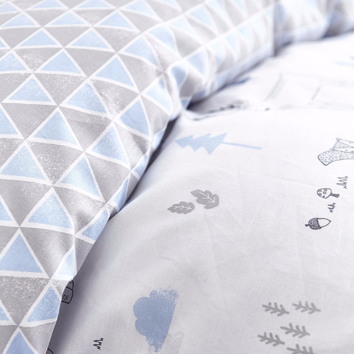Bela Casa Home Boys Blue Nordic Luxury 100%  Cotton Bedding