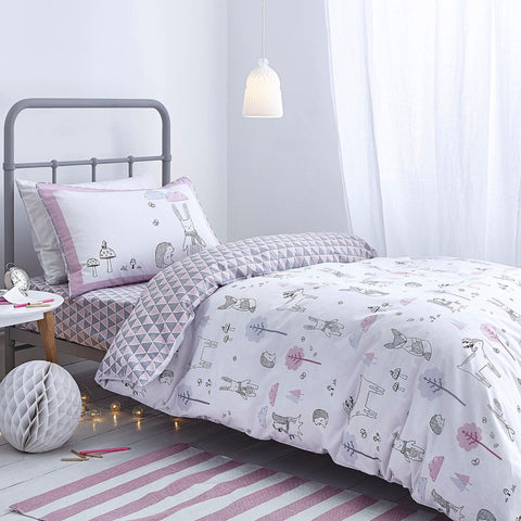 Nordic Pink Cotton Duvet Cover