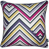 Rocco Zig Zag Berry 43 x 43cm Filled Cushion - Set Of 4