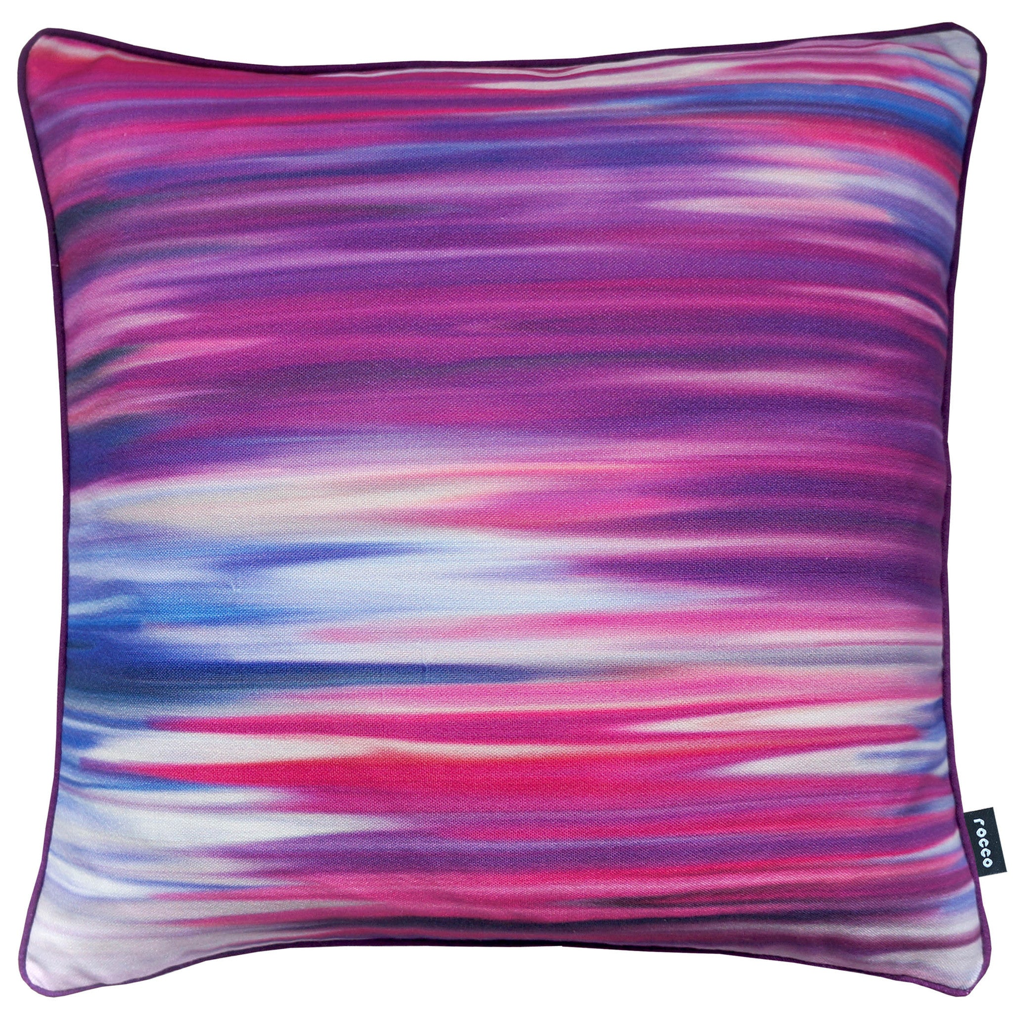 Rocco Motion Purple 43 x 43cm Filled Cushion - Set Of 4