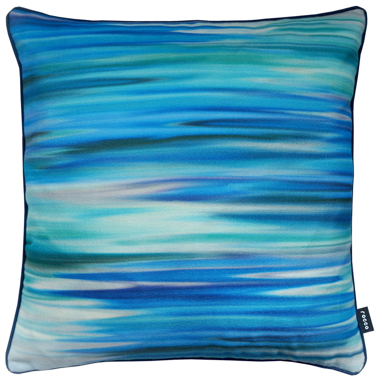 Rocco Motion Blue 43 x 43cm Filled Cushion