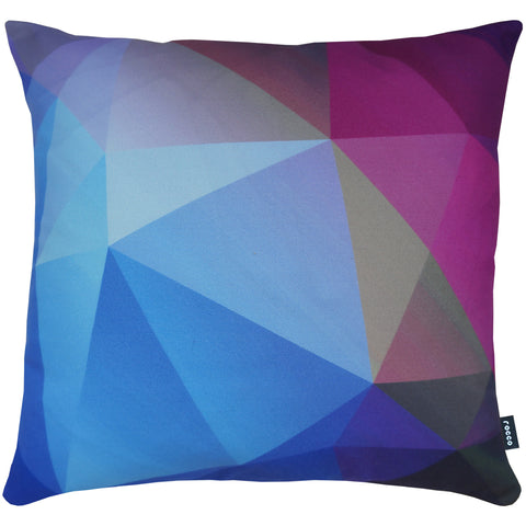 Rocco Prism Sapphire 43 x 43cm Filled Cushion