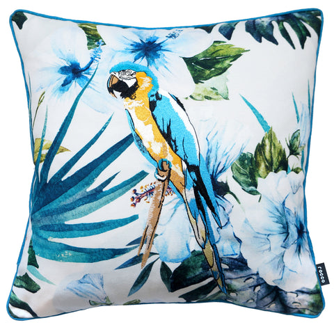 Rocco Embroidered Wild Parrot Multi-coloured 43 x 43cm Filled Cushion