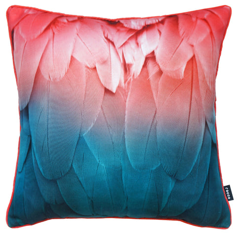 Rocco Feathers Coral 43 x 43cm Filled Cushion