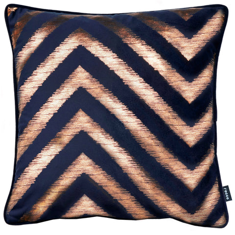 Rocco Strata Gold Navy 43 x 43cm Filled Cushion