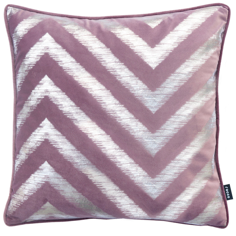 Rocco Strata Damson 43 x 43cm Filled Cushion