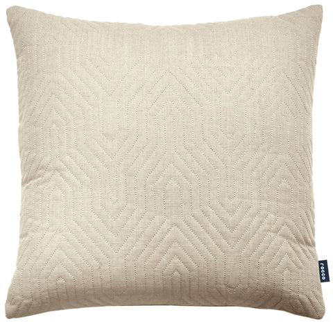 Rocco Contour Quilted Natural 43 x 43cm Filled Cushion