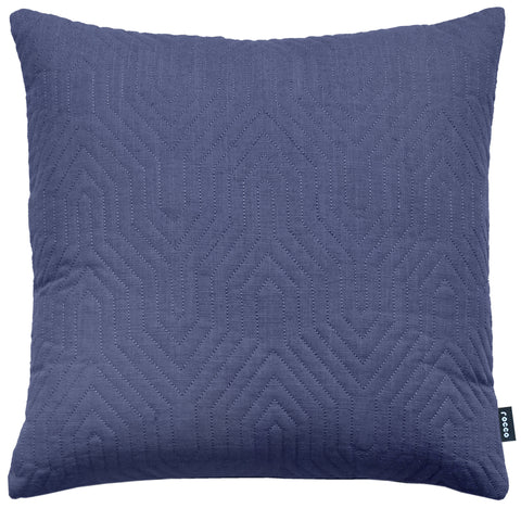 Rocco Contour Quilted Navy 43 x 43cm Filled Cushion