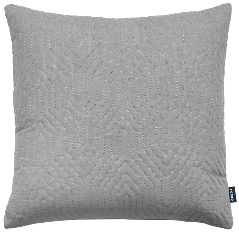 Rocco Contour Quilted Grey 43 x 43cm Filled Cushion