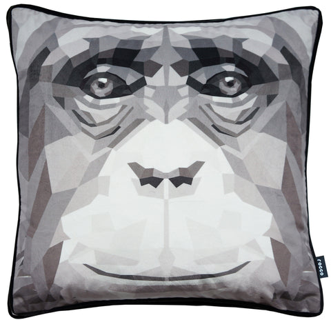 Rocco Digital Ape Grey 43 x 43cm Filled Cushion
