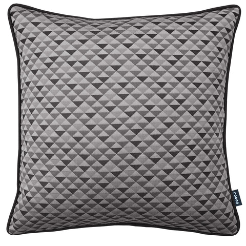 Rocco Trident Jacquard Grey 43 x 43cm Filled Cushion