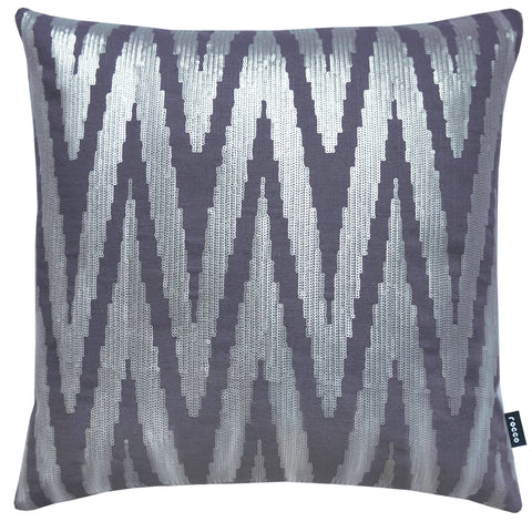 Rocco Brooklyn Silver Grey 43 x 43cm Filled Cushion