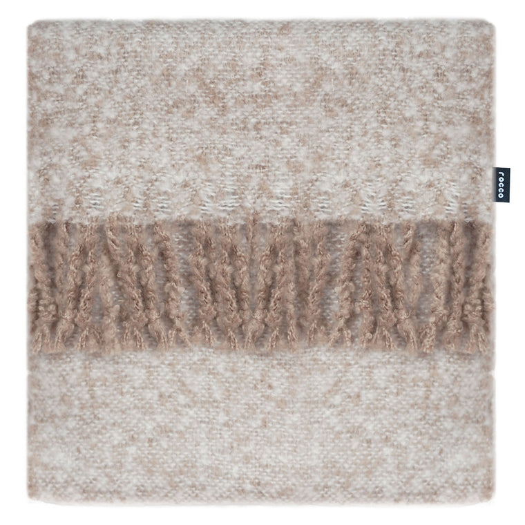 Rocco Opulence Faux Mohair Natural Throw 130 x 150 cm