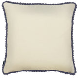 Rocco Odyessey Embroidered Flower Purple 43 x 43cm Filled Cushion