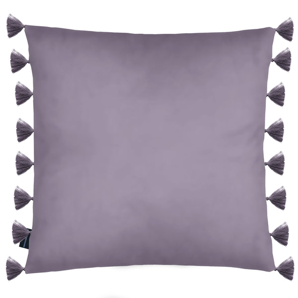 Rocco Royal Velvet Tassel Trim Purple 43 x 43cm Filled Cushion
