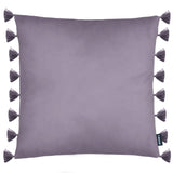 Rocco Royal Velvet Tassel Trim Purple 43 x 43cm Filled Cushion - Set Of 4