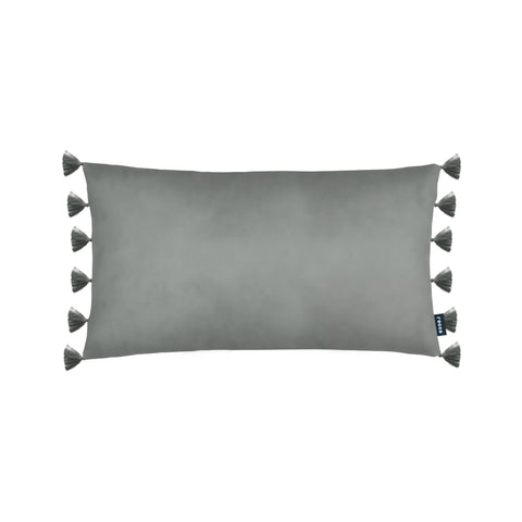 Rocco Majestic Velvet Grey 30 x 50cm Filled Cushion