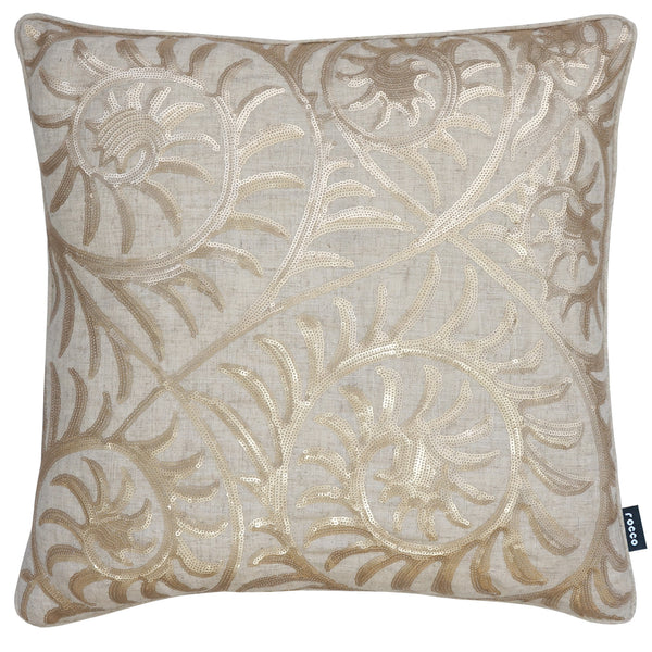Rocco Helix Natural 43 x 43cm Filled Cushion - Set Of 4