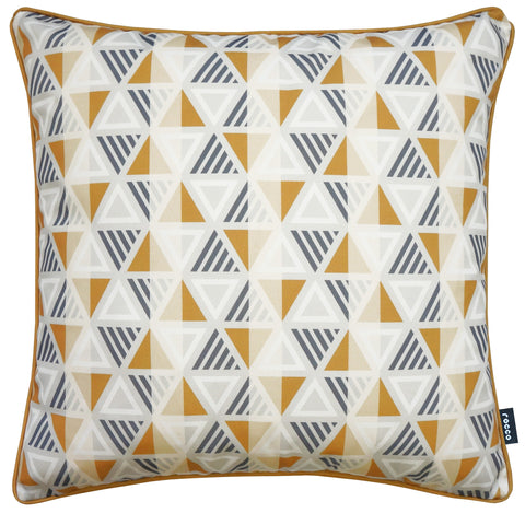 Rocco Equinox Yellow 43 x 43cm Filled Cushion